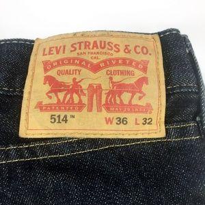(10-007) Levi's 514 36 x 32 Jeans NWOT